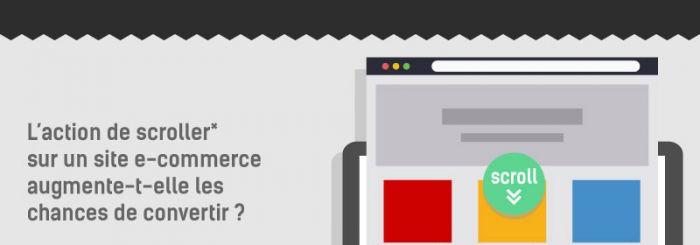 Informations sur le taux de scroll en e-commerce